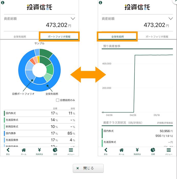松井証券の投信アプリイメージ